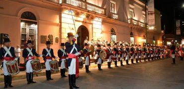 La Banda del Regimiento de Patricios brilló en la plaza de Concepción del Uruguay
