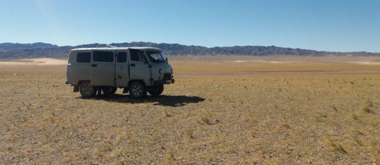 En el desierto de Mongolia