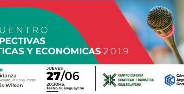 Se realizará en Gualeguaychú el tercer Encuentro Perspectivas Políticas y económicas